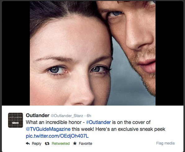 cait and sam outlander tweets