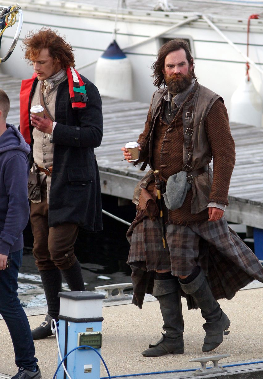 Filming In Progress The Most Beautiful Actress In The World: Outlander Insider